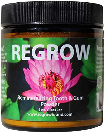 REGROW Remineralizing Tooth Powder - Stop Sensitive Teeth and Gums - Whiter Teeth Naturally - Cleans, Heals, & Protects Teeth and Gums