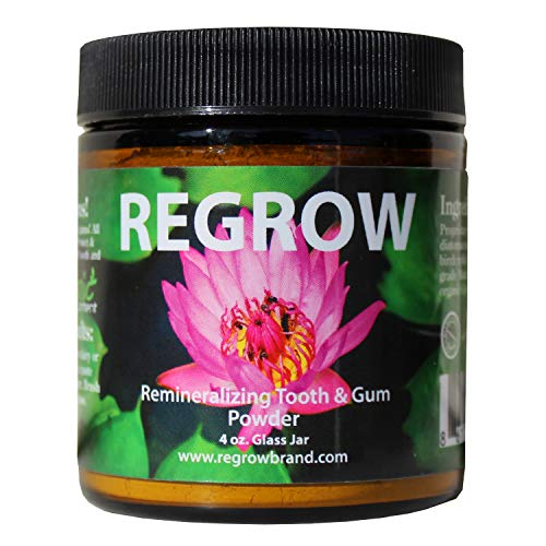REGROW Remineralizing Tooth Powder - Stop Sensitive Teeth and Gums - Whiter Teeth Naturally - Cleans, Heals, & Protects Teeth and Gums (Home Remedies To Make Your Teeth Whiter Overnight)