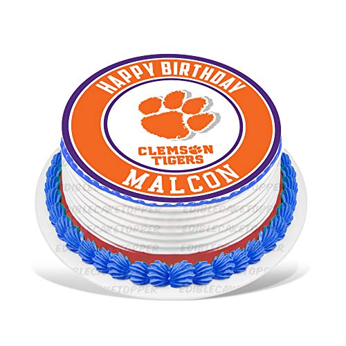 - Clemson Tigers Edible Cake Topper Personalized Birthday 8