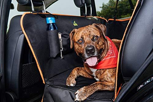Jekam® Auto Hundedecke Rücksitz-strapazierfähige Hundedecke für die Auto Rückbank -wasserdichte Autoschondecke ideal für Hund und Auto