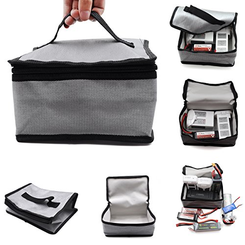 Batterie LiPo Fireproof Safety Bag 20x11x15cm Safe Guard pour DJI MAVIC PRO MAVIC Air SPARK Phantom 3, Phantom 4, Q500, Typhoon H, batterie d'hélicoptère RC Car