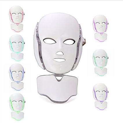 7 colores Mascarilla LED Terapia de luz LED Tratamiento Belleza facial Foton cuidado de la piel