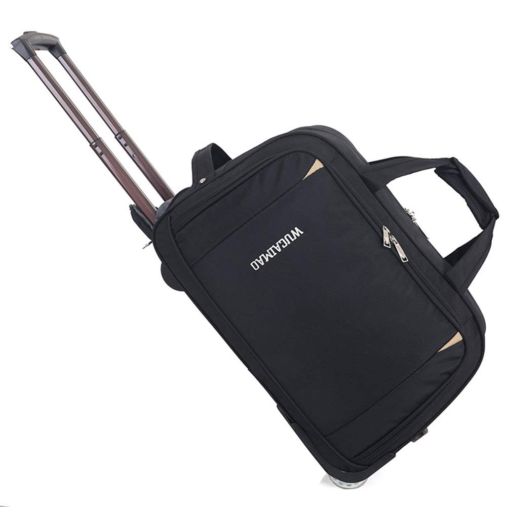 Travel Bags Leisure Travel Men and Women Pull Bag Trolley Case Luggage Suitcases Carry On Hand Luggage Durable Hold Tingting Color : Black, Size : 562936
