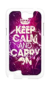 BlackKey keep calm and carry on Snap-on Hard Back Case Cover Shell for Samsung Note 2 N7100 N7108 N7102 N719 -819