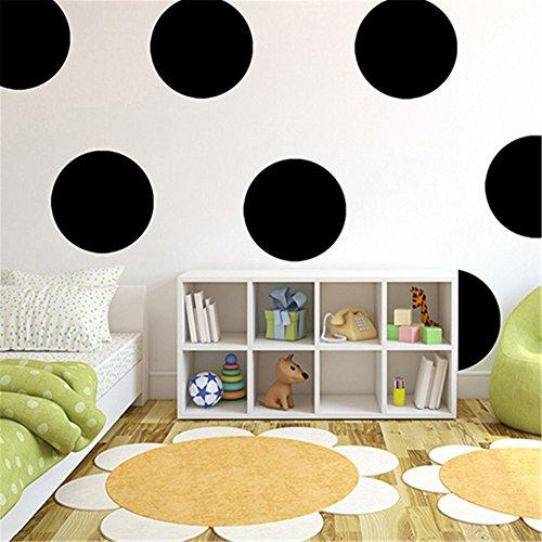 (dds5391 Polka Dots Baby Nursery Children Wall Decals Home Decor DIY Kids Vinyl Wall Sticker - Black L)