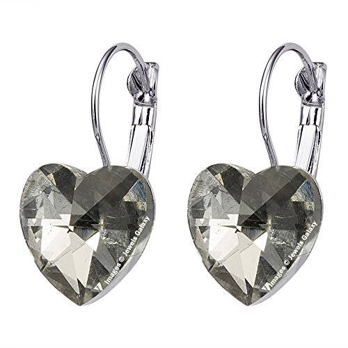Jewels Galaxy Exclusive Luxuria Limited Edition Heart Inspired Stunning Crystal Clip On Earrings