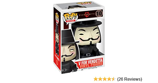 Movies #10 Vinyl Figur Funko V For Vendetta Guy Fawkes POP