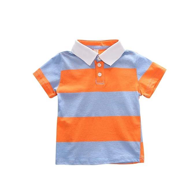 Hongyuangl Bebé Niño Polo Clásico Uniforme Escolar Camiseta de ...