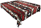 Splendid Exchange Southwestern Bedding Diamond Star Collection, Mix and Match, King Size Reversible Bedspread, Red and Black