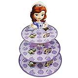 Betop House 3-Tire Princess Sofia Themed Party Cupcake Dessert Stand