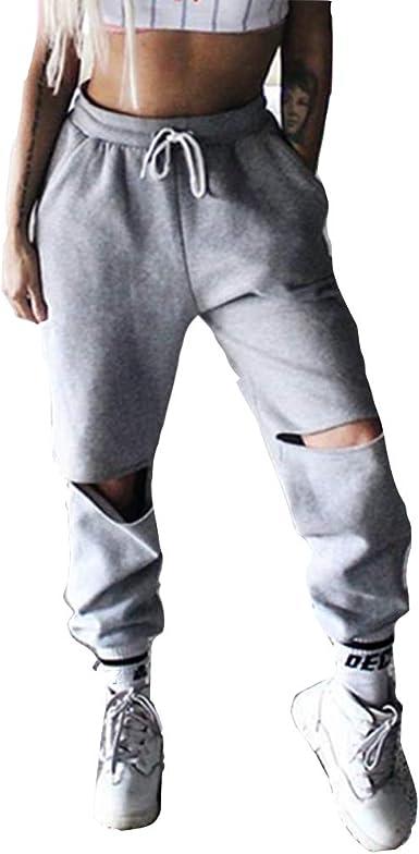 Women/'s Elastic Waist Casual Jogger Harem Pants Chiffon Pants Ladies Trousers ZP