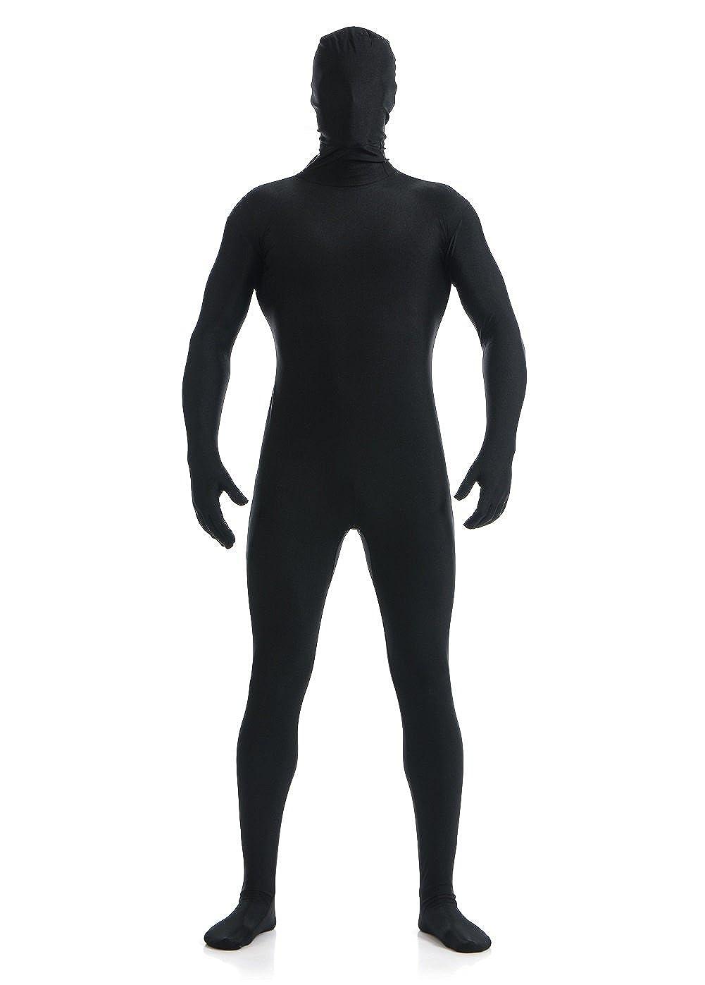 Halloween Costumes Women Men Teen Kids Unisex Black Bodysuit Full Zentai Lycra Spandex Suit for Cosplay Halloween