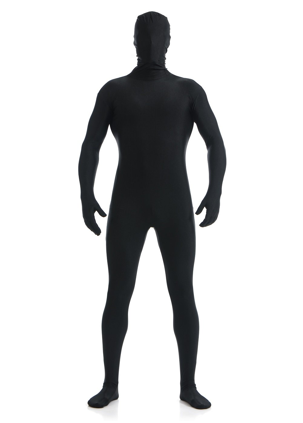 Halloween Costumes Spandex Black Bodysuit Full Zentai Lycra Spandex Suit Men Women Unisex for Cosplay, Halloween,Performance Size L