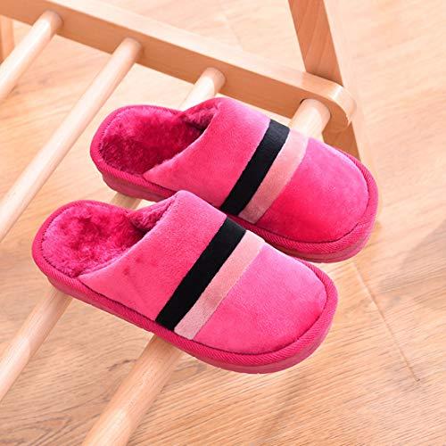 Slip Women Jiyaru House Men Home Pink Plush Non Slipper 75nxInqr