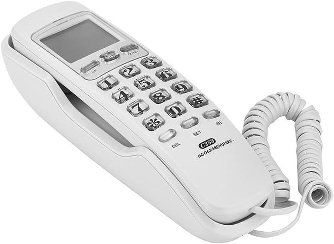 FOSA Teléfono Fijo Montaje en Pared o Sobremesa con Marcación Rápida, Cancelación de Ruido para Casa,Blanco: Amazon.es: Electrónica