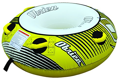 4 Inflatable Towable Tube - O'Brien Rider Tubester Towable Round Tube with 4 Handles, 54-Inch