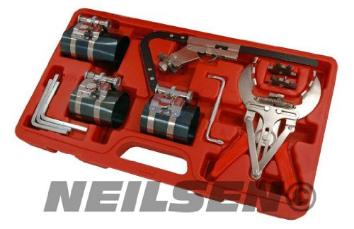 Piston Ring Service Tool Set compressor with ratchet key CT3502