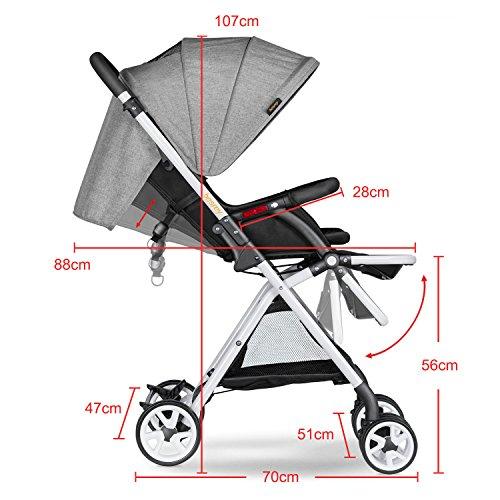 Besrey - Cochecito capazo plegable para bebé, 6 – 36 meses ...