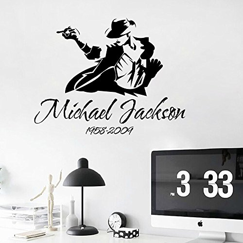 [Aiwall 9174 9174 DIY wall decal Michael Jackson Art Poster Wall Sticker Home Decoration] (Michael Jackson Decorations)