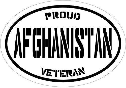 WickedGoodz Black Proud Afghanistan Veteran Vinyl Window Decal - Patriotic Bumper Sticker - Perfect Soldier Military - Afghanistan Veteran Sticker