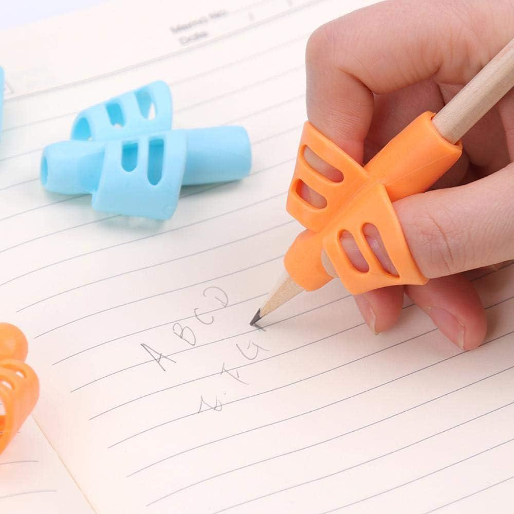 Herramienta de silicona para aprender a escribir, corrector de escritura de dos dedos, 3 unidades: Amazon.es: Oficina y papelería