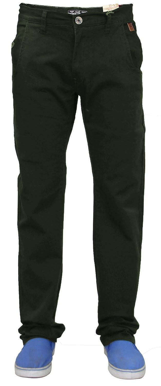 TALLA 40W / 32L. Jacksouth Pantalones Ajustados Regula del diseñador para Hombre nuevos Chinos Ricos de la Tela Cruzada del Estiramiento del algodón