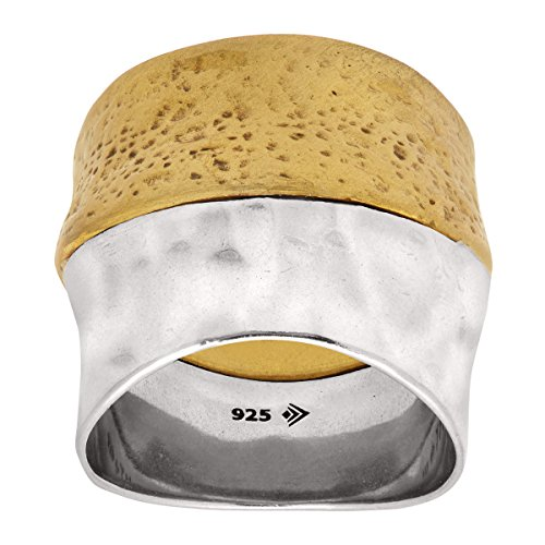 Silpada 'Rain or Shine' Sterling Silver and Brass Ring, Size 7 ()