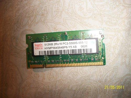 - Hynix 512MB PC2-4200 DDR2-533MHz Unbuffered Non-ECC CL5 200-Pin SoDimm Original Memory Module Mfr P/N HYMP564S64BP6-Y5