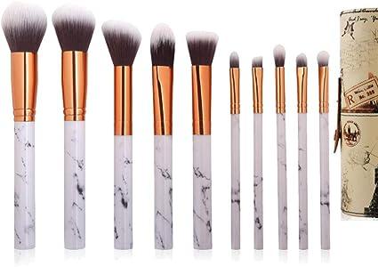 Brochas de Maquillaje,Goodfaces Maquillaje Profesional Pinceles Maquillaje de Ojos Rubor Contorno de los Labios Corrector Brochas Cosméticas + Caja de almacenamiento-10 canicas: Amazon.es: Belleza