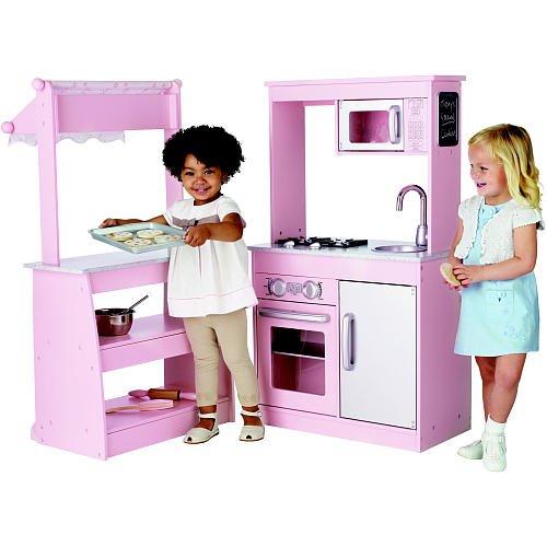 Amazon.com: FAO Schwarz Wooden Bake Shoppe   GIRLS PINK KITCHEN REAL WOOD  PLAY SET  WOW !: Toys U0026 Games