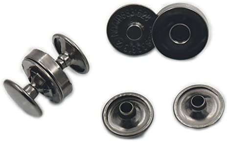 Magnetic Snap Clasp Fastener for Bags Crafts Purses Buttons Closures 14mm//18mm
