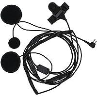 TENQ Full Face Moto Motorcycle Bike Helmet Earpiece Headset Mic Microphone for 2 pin Two Way Radio Walkie Talkie Motorola
