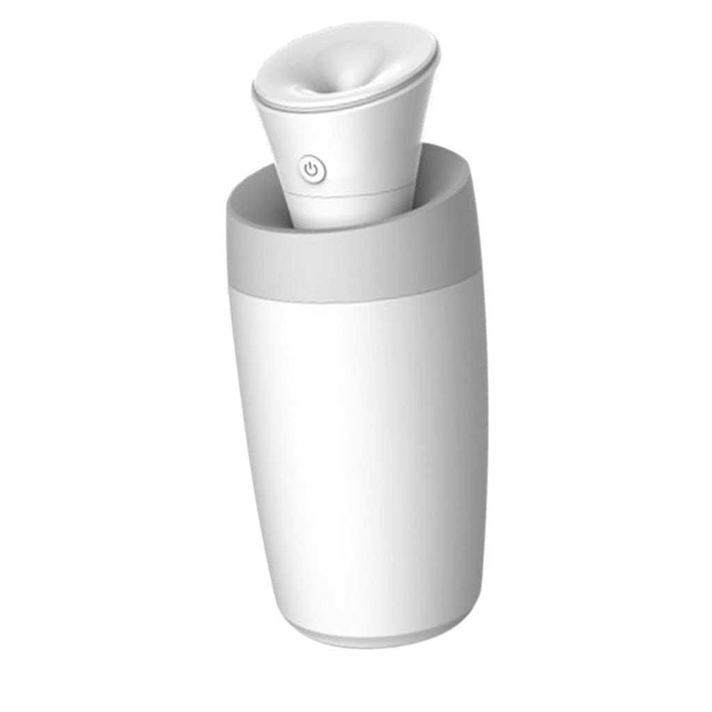 Homyl Cool Mist Humidifier 300ml Filter Ultrasonic Humidifier for Home Office Spa Yoga, Travel-Size Air Purifiers - White