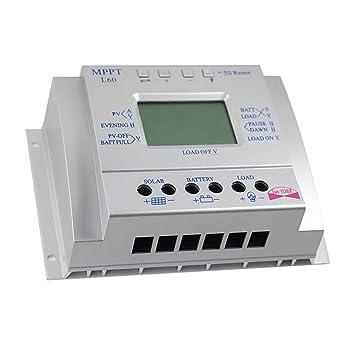 T40 Solar Laderegler 60A MPPT 12//24V Controller mit Display