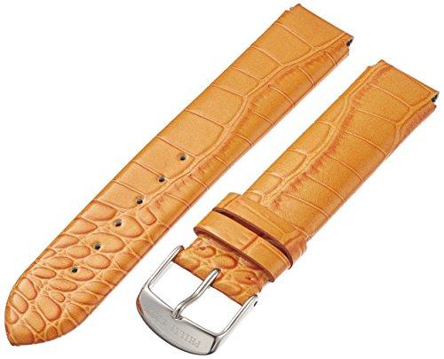 Philip Stein 1-LZTO 18mm Leather Calfskin Orange Watch Strap