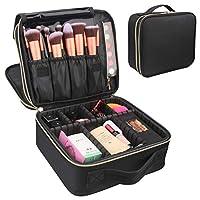Travel Makeup Case, Chomeiu 2 Layer Makeup Bag Cosmetic Organizer Adjustable Makeup Train Case