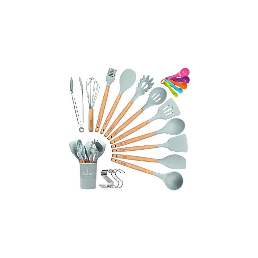 CORAFEI Kitchen Set Silicone Cooking Utensils