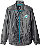 G-III Sports NFL Miami Dolphins The Executive Full Zip Jacket, X-Large, Charcoal Gray