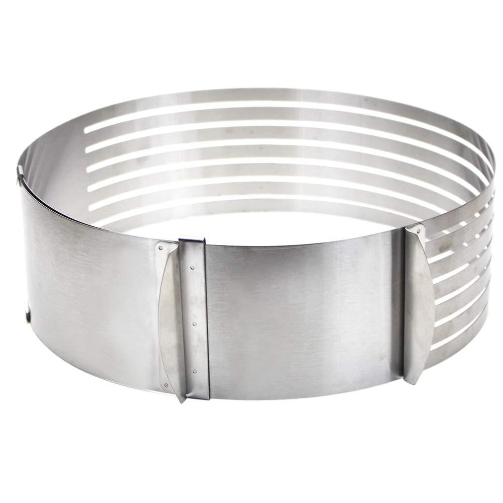 Molde MMBOX para tartas de 15,24 cm a 20,32 cm, de acero inoxidable y con anillos cortar la tarta