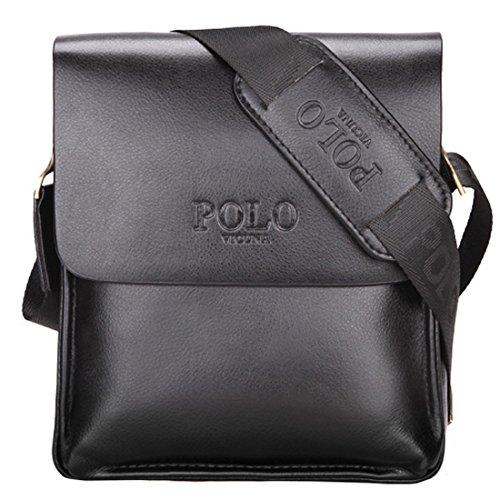 VICUNA POLO Men Shoulder Bag Messenger Handbag Crossbody Bag Men Purse Ipad Bag (black)