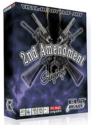2ND AMENDMENT GUN RIFLE FIREARM SAYINGS Vector Clip Art Vinyl Cutter & Plotters - Great for Silk Screening - T-Shirts - Making Decals & Stickers - Printing - Awesome for License Plates
