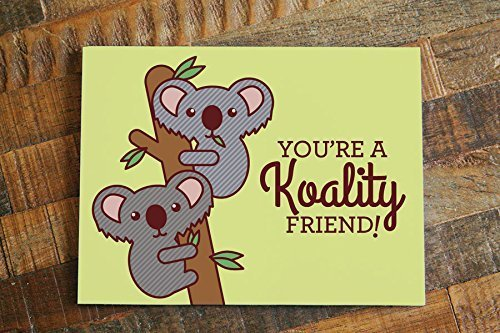 Amazon Com Funny Koalas Friendship Card Koality Friend Cute