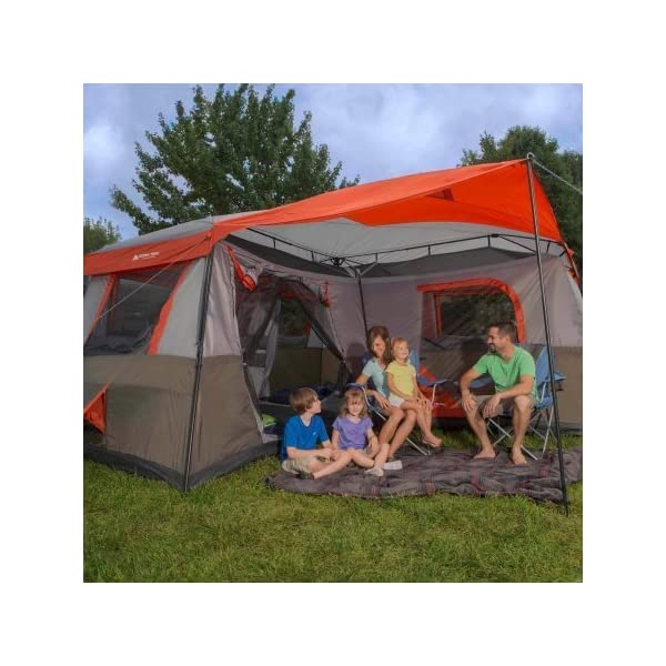 Ozark Trail 16x16 Feet 12 Person 3 Room Instant Cabin Tent
