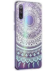 Suhctup Funda Compatible con Xiaomi Mi 5S Transparente,Silicona TPU Gel Carcasa Dibujos Flor Crystal Suave Bumper Ultra Delgado [Soporte Carga Inalámbrica] Antigolpes Case Cover,Lace 6