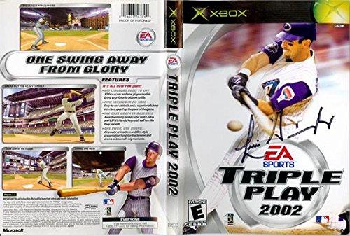 Luis Gonzalez autographed video game display cover (Arizona Diamondbacks) Triple Play 2002 ()