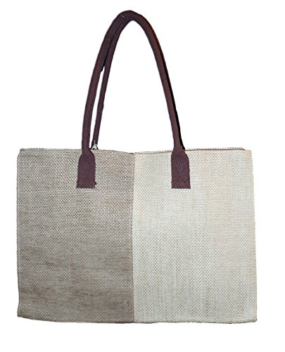 Color Block Jute Tote Bag in Natural Col - Monogrammed Natural Shopping Results