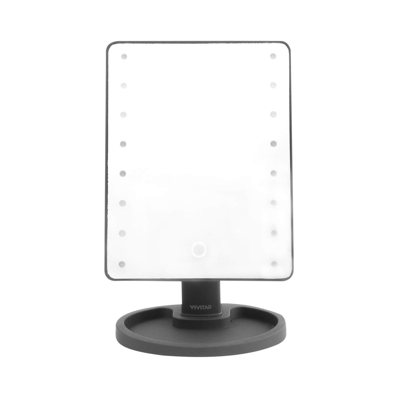 Vivitar Simply Beautiful Black Led Lighted Vanity Mirror One Size Black