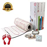 Underfloor Heating Mat Kit with Digital Thermostat 2sqm All Sizes Available. 150w/m2 Electric Under Tile Floor Heating with Lifetime Warranty and Next Day Delivery 2sqm White Digital Thermostat