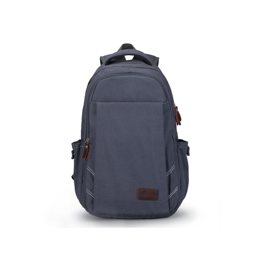 Charm bluee Black MuMa Casual Daypacks Casual Backpack Canvas Bag Travel Bag Student Bag (color   Khaki USB)