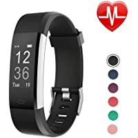 LETSCOM Fitness Tracker, Heart Rate Monitor Smart Watch with Sleep Monitor Step Counter Pedometer, IP67 Waterproof Wireless Activity Tracker Watch